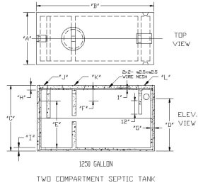 two compartment septic tank